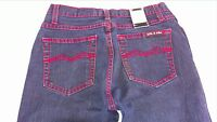 LVL X Jeans Juniors 7/8 Dark Wash Red Stitch Heart Boot Cut 28 x 31 Actual Pants
