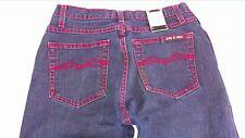 LVL X Jeans Juniors 7/8 Dark Wash Red Stitch Heart Boot Cut 28 x 31 Actual Pants