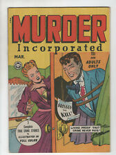 Murder Incorporated 2 Fox Feature 1948 VG Pre-Code Crime Dressed To Kill Bondage