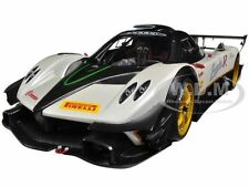 PAGANI ZONDA R EVO CARBON FIBER/WHITE 1:18 DIECAST MODEL CAR BY AUTOART 78271
