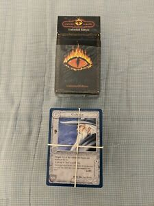 Middle Earth CCG The Wizards Unlimited Edition Set of 201 Cards disclosed 3decks