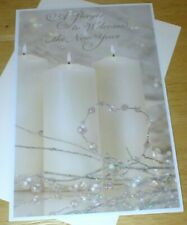 "New Year Greeting Card - ""A Prayer to Welcome the New Year"" - Sparkles"