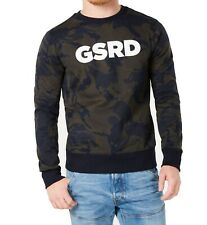 G-Star Raw Mens Sweaters Green Size Large L Crewneck Pullover Logo $75 117