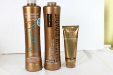 Brazilian Blowout Zero 34oz, Anti Residue Shampoo 34oz & Masque 8oz