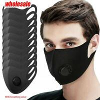 Washable Reusable Face Mask Wholesale 10PCS Breathable Exhaust Valve Mouth Cover