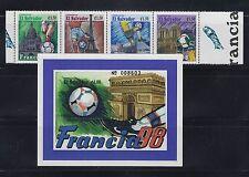 El Salvador 1998 World Cup Soccer Sc 1481-1482  Mint Never Hinged