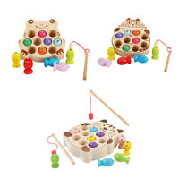 Early Childhood Wooden Magnetic Fishing Game Educational Montessori Toy