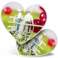 2 x Heart Stickers 7.5 cm - Funny Mini Farm Fruit Farmer  #3473