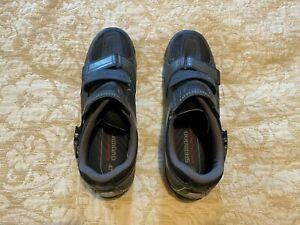 Men's mens genuine SHIMANO MTB / SPD cycle shoes. V3lcro & clip. Grey. EU 47