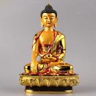 21cm Chinese Tibetan Buddhism Resin Shakyamuni Amitabha Buddha Statue Decorate