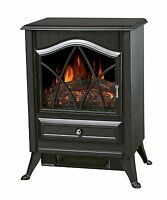 Galleon Fires NEOS Electric Stove Fire Log Flame Effect Heater Fireplaces Black