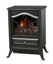 New 1850W Electric Stove Fire Log Flame Effect Heater Chrome Handles To Quality