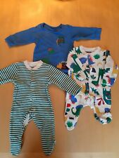 Marks And Spencer Set Of 3 Baby Boy Babygros 1 Month