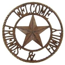 new cast iron welcome friends family sign rustic cabin barn western wall decor - Western Wall Decor