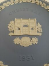 Wedgwood Collectible Plate Christmas 1981 Marble Arch with Box Jasperware