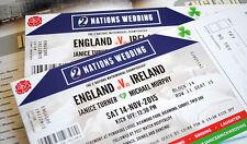 Rugby Ticket Wedding Invitations