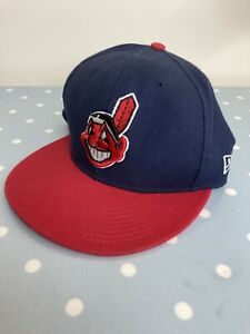 New Era 59Fifty Cleveland Indians Snapback Cap - Size 7 1/4 - Used - Good Con