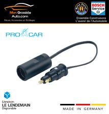 ProCar Adaptateur 12-24V Allume Cigare Prise DIN 8A Camion Camping Car Bateau