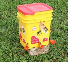 One (1) Chicken Water Drinker cup with NUT+Washer+O-Ring, Poultry, Coop, tractor