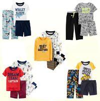 Boys Sleepwear New Carter's Baby/Toddler Boys 3 or 4 Pc Pajama Sleepwear Sets