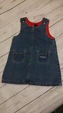 Tommy Hilfiger Vintage Denim Blue Jean Overall Jumper Dress 2T Girl 90s