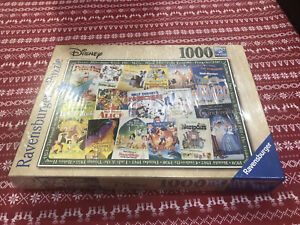 Ravensburger Disney Vintage Movie Posters 1000 PIeces Jigsaw Puzzle 19874 Sealed