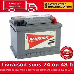 Hankook 56077 Batterie de Démarrage Pour Voiture 12V 60Ah - 242 x 174 x 175mm