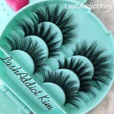 d8f157a3c55 Set 3 Lashes MINK Lashes Fur Siberian + Eyelashes Case 💕 Makeup Case US  SELLER