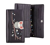 Visconti OWL Collection Soft Genuine Leather Womens Wallet Purse Clutch Holder