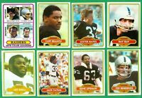 1980 TOPPS OAKLAND RAIDERS TEAM SET NM   SUPER BOWL XV CHAMPS  BRANCH  HAYES RC