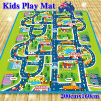 2mx1.6m Waterproof Children's Mats Baby Kids Rug CITY Carpet Car Play Mat Track