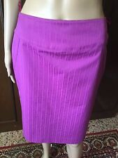 Skirt  Luisa Spagnoli  Woman, fuchsia color, size 42, elasticated cotton, lined