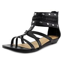Sandalias y chanclas de mujer Nine West de tacón bajo (menos de 2,5 cm) de color principal negro