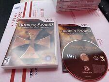 Broken Sword Shadow of the Templars Director's Cut (Nintendo Wii, 2009) Complete