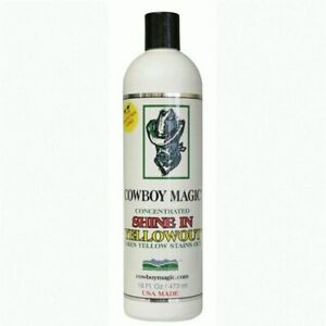 COWBOY MAGIC Shine In Yellow Out - Stain Removing Whitening Horse Shampoo 473ml