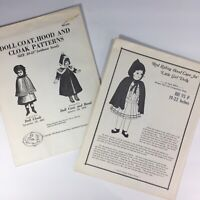 "Lot of 2 Hobby House Press 20-21"" Historical Doll Clothes Patterns vintage"