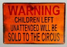 Circus Funny Tin Sign Bar Cafe Diner Garage Pub Wall Decor Retro Metal Poster