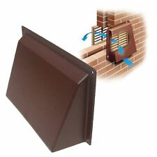 "9"" x 6"" Brown Cowl Vent Cover for Openings Air Bricks Grilles Vents Extractors"
