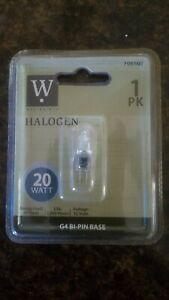 NEW Westpointe 20 Watt Clear Specialty Halogen Light Bulb G4 2000 Hours Bi-Pin