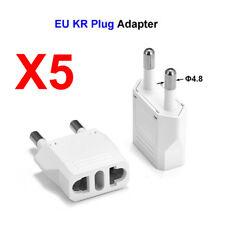 5X Plug Power Adapter US AU IT BR To EU KR European German AC Travel Converter