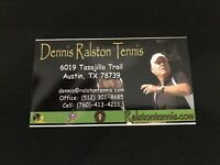 DENNIS RALSTON Signed Personal Business Card Tennis HOF Autographed Deceased