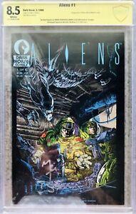 Aliens 1 CBCS CGC 8.5 (1st Aliens) Dark Horse signed Mark Nelson, Michael Biehn