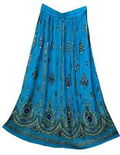 RAYON Indian skirt kjol boho gypsy Rock retro WOMEN EHS hippie ethnic jupe falda