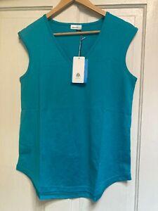 HEDRENA Extra Fine Merino Wool Eden V-Neck Tank Top - Size S/M BNWT$99