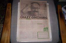 Crazy Ralph Ginzburg Avant-Garde Sunday Comic Full Page Ad 1974