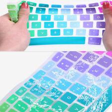 """13""""15""""17"""" Pro For / Macbook Mac Keyboard Air EU UK Cover Rainbow Skin Silicone"""