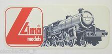 VECCHIO ADESIVO / Old Sticker Vintage LIMA MODELS TRENO (cm 15 x 6)