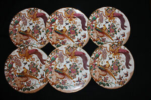 Royal Crown Derby Olde Avesbury A73 Pattern 6 x Dinner Plates 10½ ins. (C)
