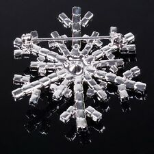 Snowflake Crystal Frozen Brooch Pin AB Charm