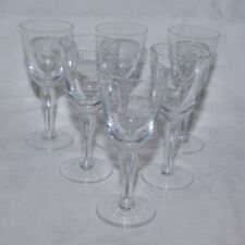 Art Nouveau Clear Crystal Date-Lined Glass